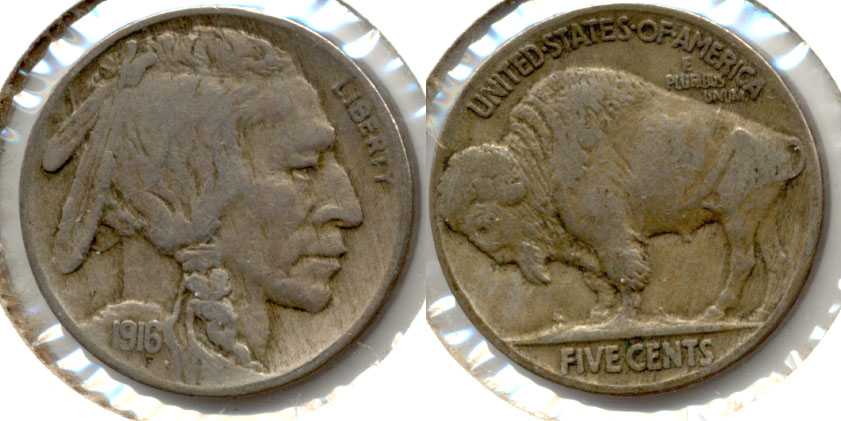 1916 Buffalo Nickel Fine-12 d