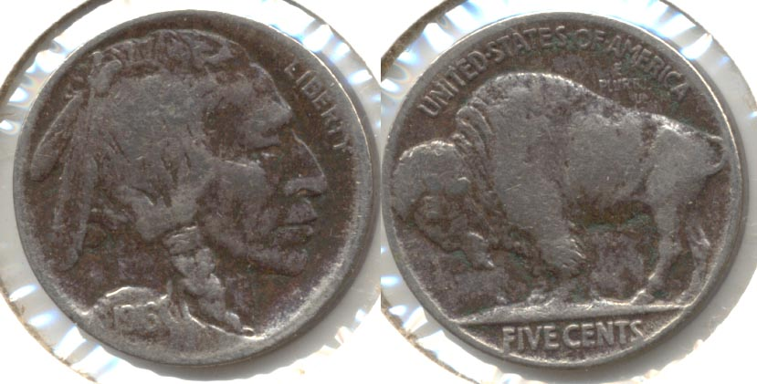 1916 Buffalo Nickel Fine-12 e Cleaned