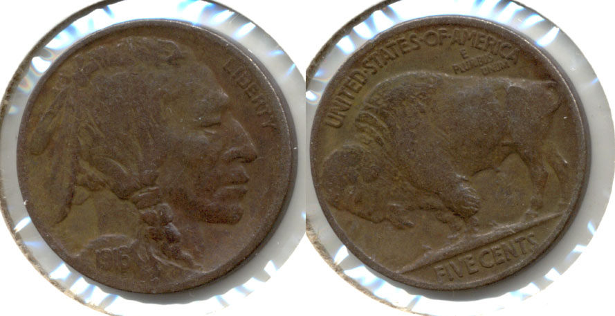 1916 Buffalo Nickel Fine-12 k Dark