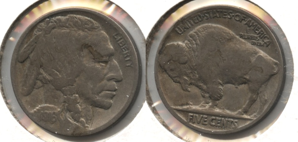 1916 Buffalo Nickel Fine-12 #z