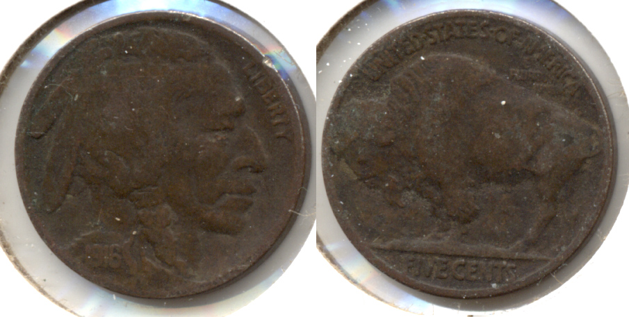 1916 Buffalo Nickel VG-8 ae Very Dark