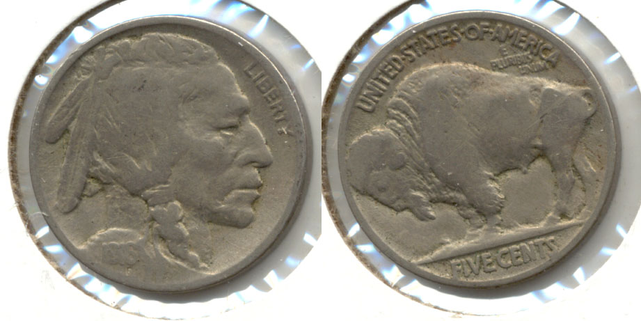 1916 Buffalo Nickel VG-8 t Reverse Scratch