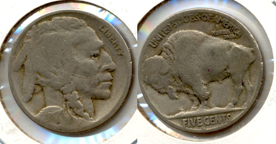1917-D Buffalo Nickel AG-3 d