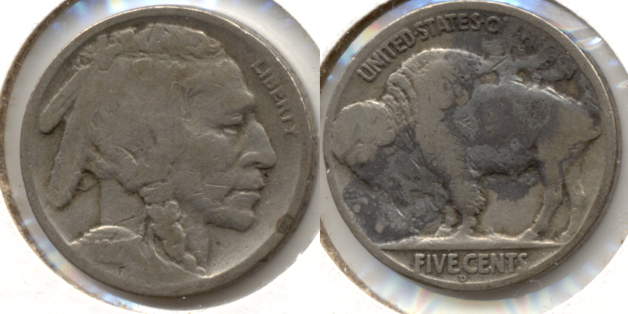 1917-D Buffalo Nickel Good-4 f Discolored Reverse
