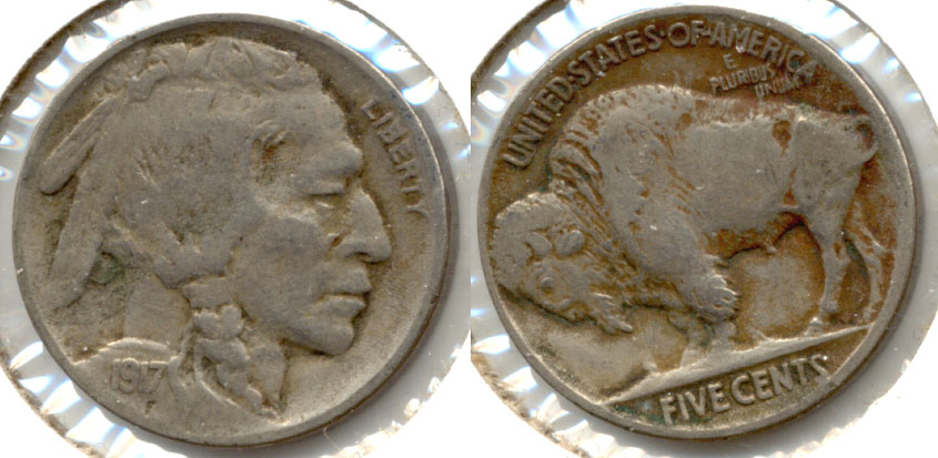 1917 Buffalo Nickel Fine-12 c