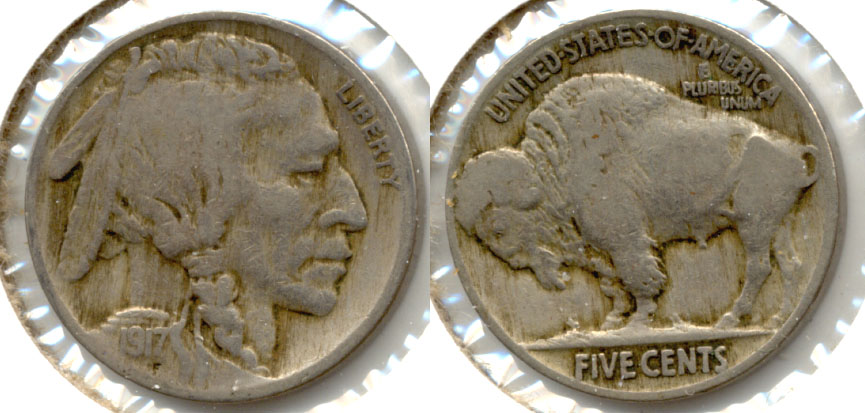 1917 Buffalo Nickel Fine-12 d