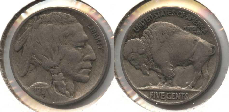 1917 Buffalo Nickel Fine-12 #s