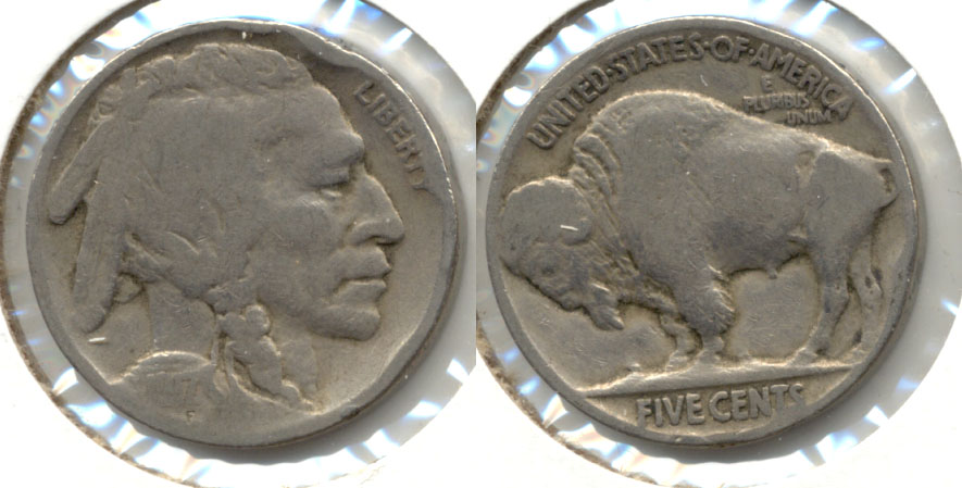 1917 Buffalo Nickel Good-4 an Rim Bump