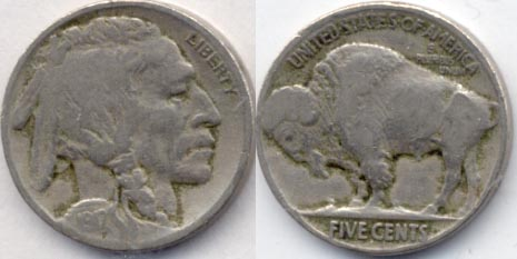 1917 Buffalo Nickel Good-4 g