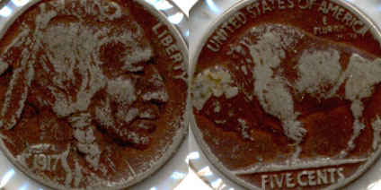 1917 Buffalo Nickel VG-8 b Dark Fields