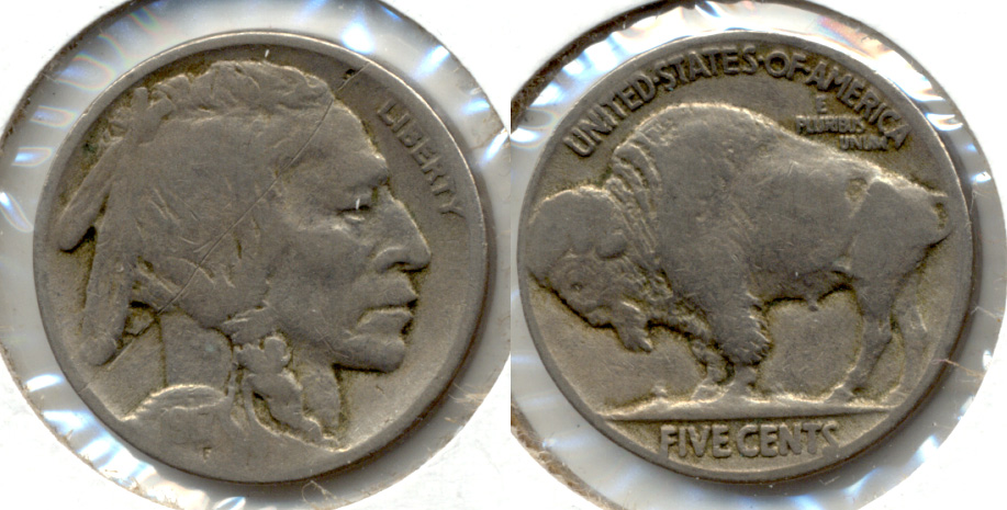 1917 Buffalo Nickel VG-8 p Obverse Scratch