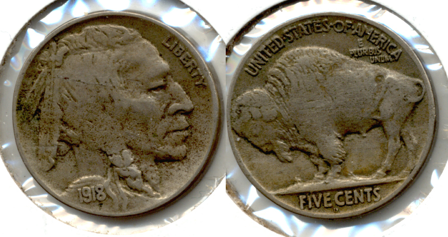 1918-D Buffalo Nickel Fine-15