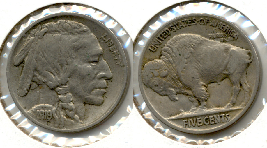 1919 Buffalo Nickel EF-40