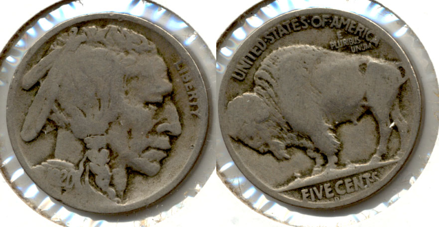 1920-D Buffalo Nickel Good-4 p