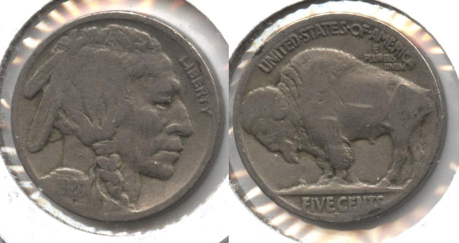 1920-D Buffalo Nickel VG-8 #c Reverse Mark