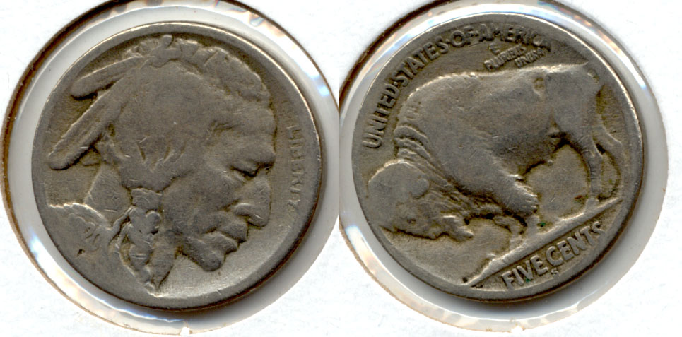 1920-S Buffalo Nickel AG-3 ax