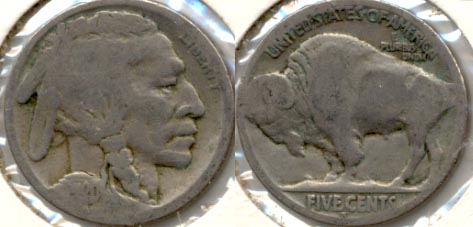 1920-S Buffalo Nickel AG-3 g