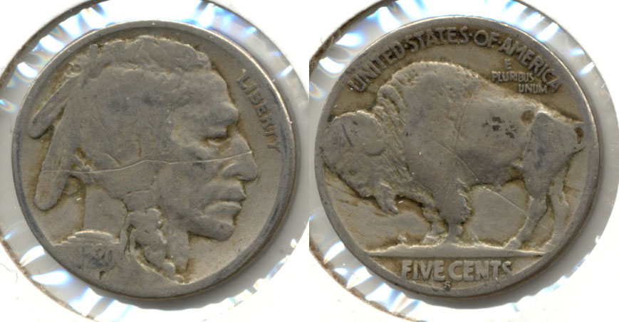 1920-S Buffalo Nickel Good-4 af Scratches