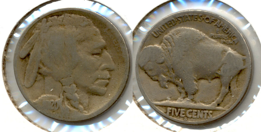 1920-S Buffalo Nickel Good-4 ak