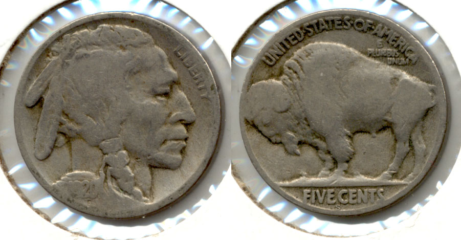 1920-S Buffalo Nickel Good-4 aq