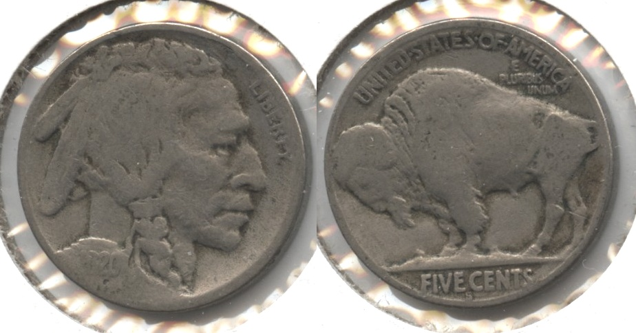 1920-S Buffalo Nickel Good-4 #ax
