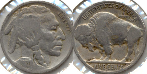 1920-S Buffalo Nickel Good-4 g