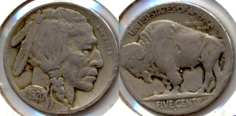 1920-S Buffalo Nickel Good-4 o Tics
