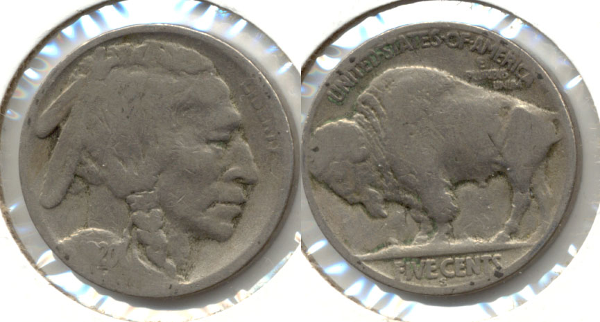 1920-S Buffalo Nickel Good-4 x