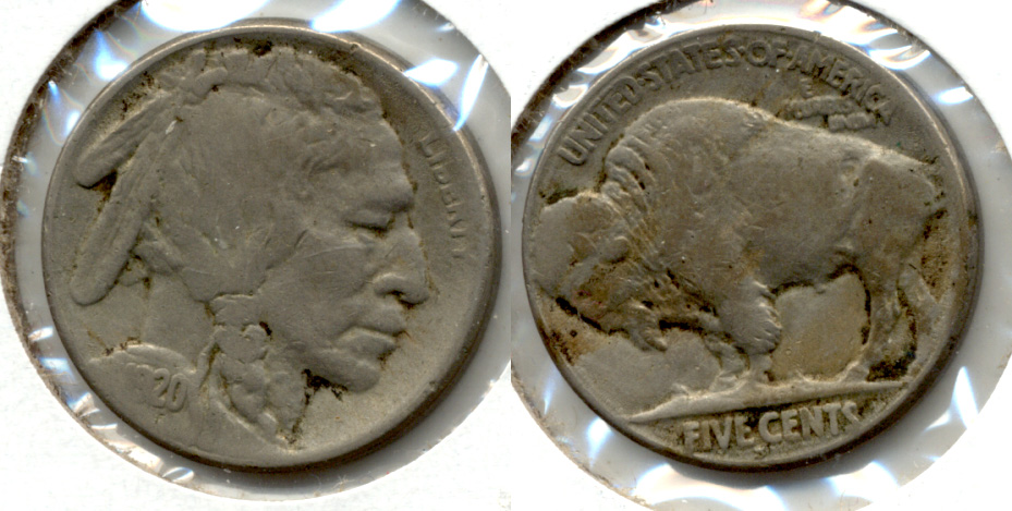 1920-S Buffalo Nickel VF-20