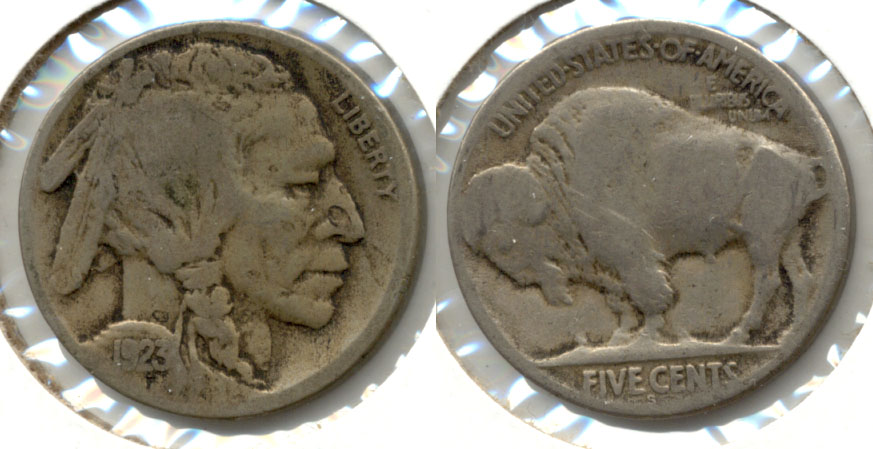 1923-S Buffalo Nickel Good G-4 ah