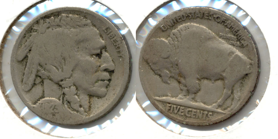 1923-S Buffalo Nickel Good G-4 bc