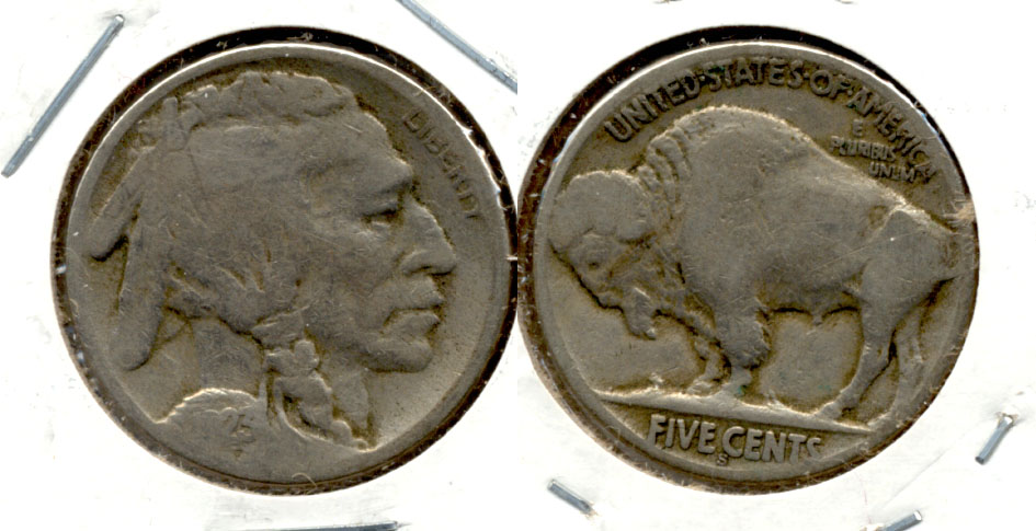 1923-S Buffalo Nickel Good G-4 bf