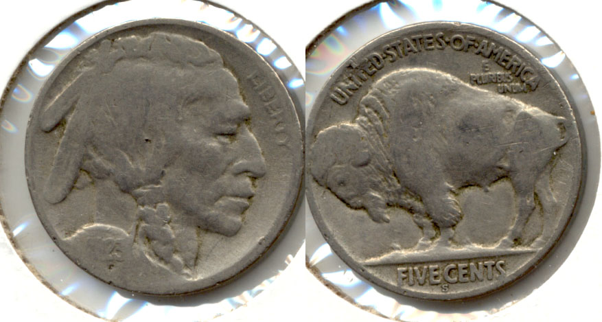 1923-S Buffalo Nickel Good G-4 bk