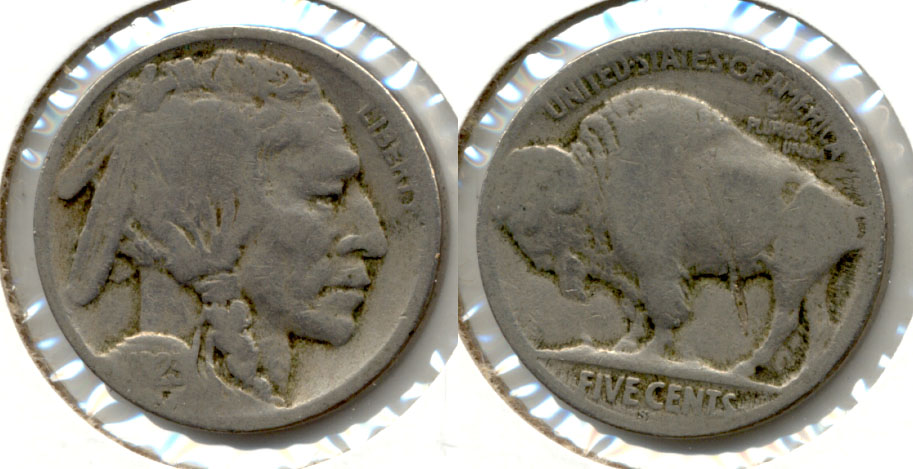 1923-S Buffalo Nickel Good-4 bo Reverse Lamination