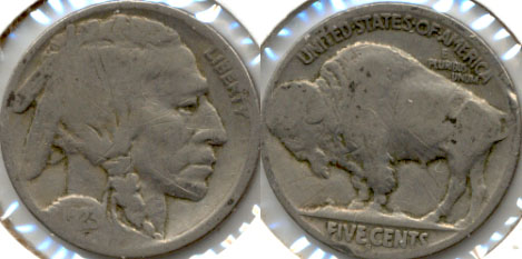 1923-S Buffalo Nickel Good G-4 i Scratches