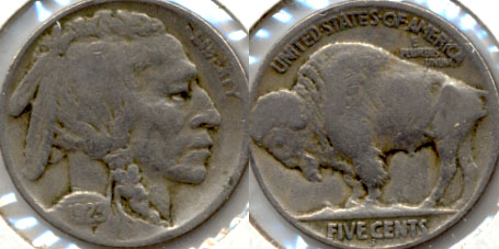1923-S Buffalo Nickel Good G-4 m