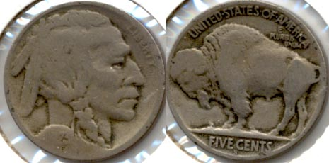 1923-S Buffalo Nickel Good G-4 s