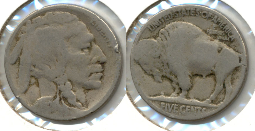 1924-S Buffalo Nickel AG-3 a Rim Bump