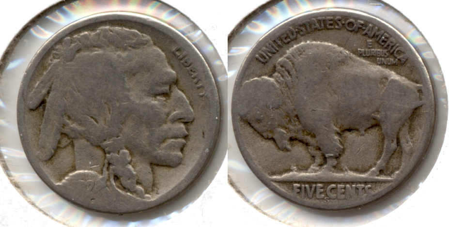 1924-S Buffalo Nickel About Good AG-3 g