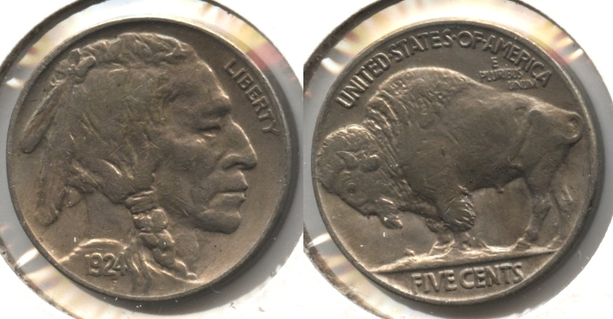 1924 Buffalo Nickel AU-50 #b