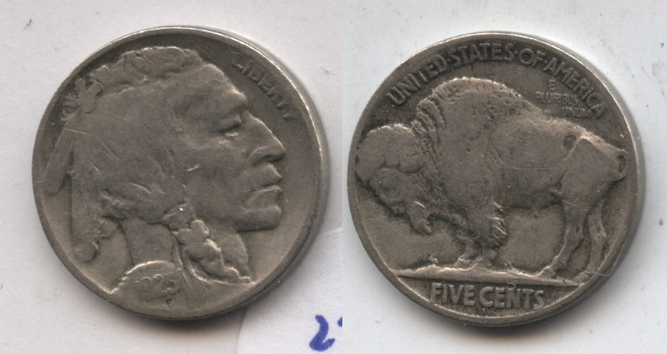 1925-D Buffalo Nickel Fine-12 #a