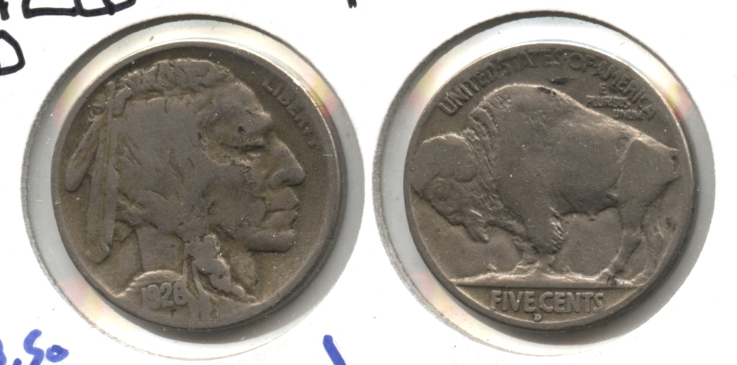 1926-D Buffalo Nickel VG-8 #b