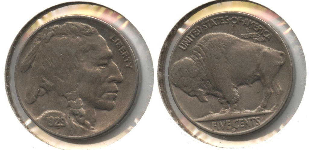 1929-D Buffalo Nickel EF-40 #a