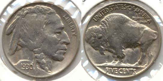 1930 Buffalo Nickel AU-50