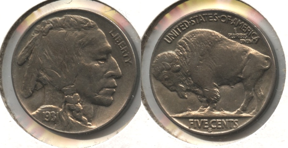 1931-S Buffalo Nickel EF-40