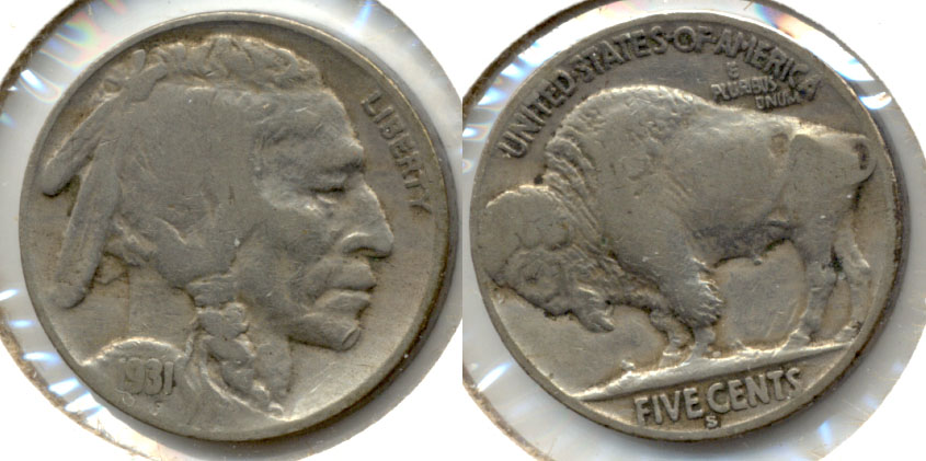 1931-S Buffalo Nickel Fine-12