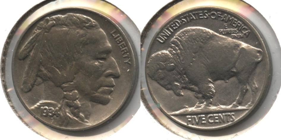 1934 Buffalo Nickel AU-50 #c