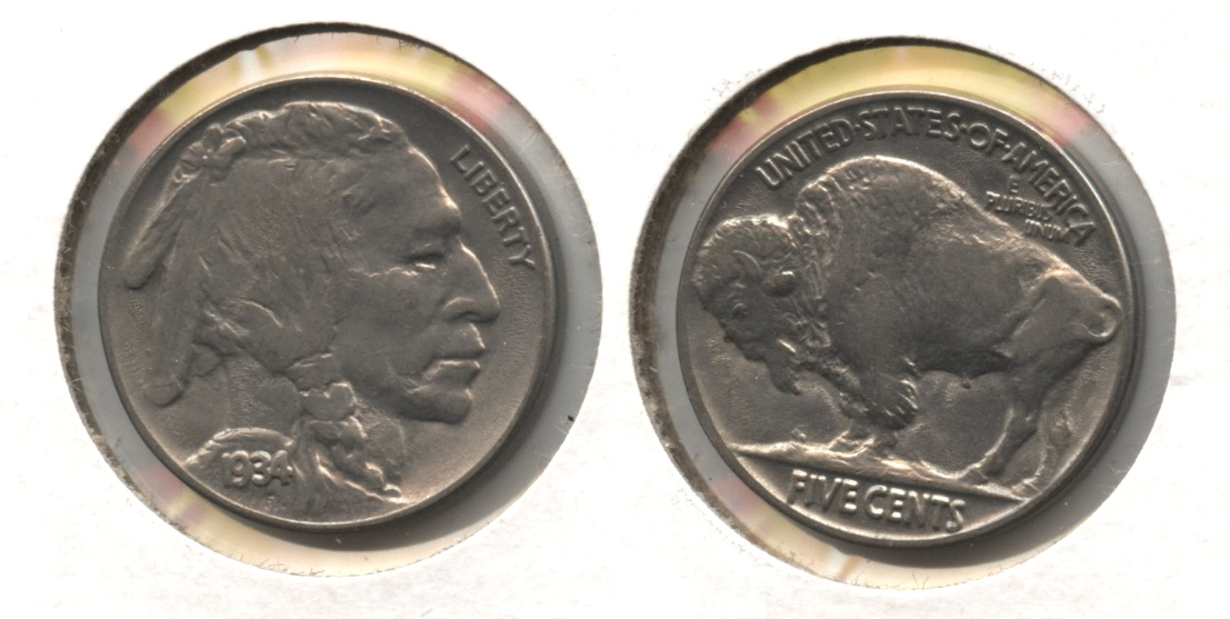 1934 Buffalo Nickel AU-50 #e
