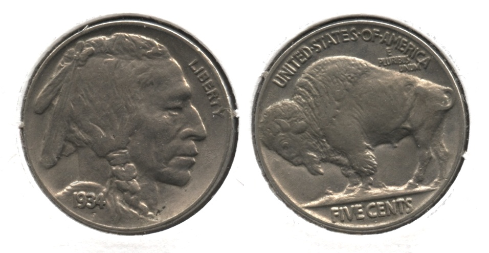 1934 Buffalo Nickel AU-50 #f