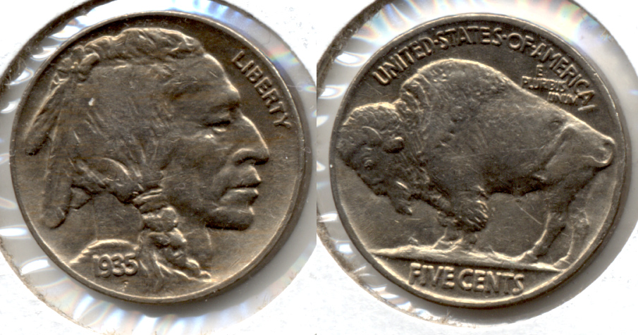 1935 Buffalo Nickel AU-50 m